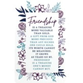 Friendship is a Treasure Pocket Card Bookmark