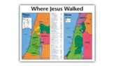 Where Jesus Walked: Then & Now, Laminated Wall Chart