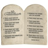 The 10 Commandments Stone Tablets Tabletop Plaque
