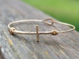 Cross Bangle Bracelet, Gold