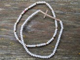 Sideways Cross Bracelet, Gray Beads