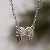 Angel Wings Necklace, Silver