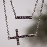 Layered Cross Blessed Necklace