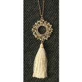 Glass Pendant Tassel Necklace