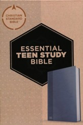 CSB Essential Teen Study Bible--soft  leather-look, steel