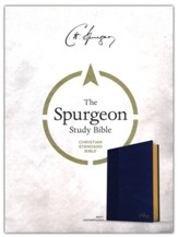 CSB Spurgeon Study Bible--soft leather-look, navy blue