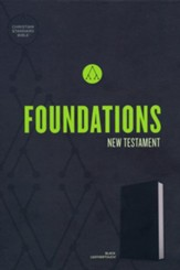CSB Foundations New Testament--soft leather-look, black