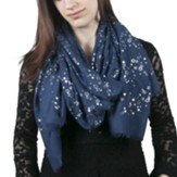 In Memory Scarf, Stars, Navy Blue