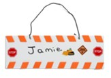 Concrete & Cranes: Barricade Door Hanger Craft (pkg. of 10)