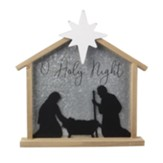 O Holy Night Wood Nativity