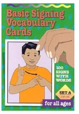 Basic Signing Vocabulary Cards, Set A (100 Cards)
