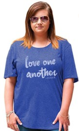 Love One Another Shirt, Heather Blue, Small