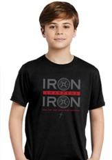 Iron Sharpens Iron, Weights, Shirt, Black, Youth Medium