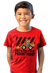 Faith Can Move Mountains Shirt, Red, Toddler 4