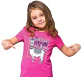 No Prob-Llama Is Too Big For Jesus Shirt, Pink, Toddler 3