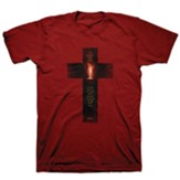 Light Cross Shirt, Cardinal Red, XXX-Large , Unisex