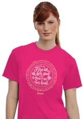 She Has Fire In Her Soul Shirt, Pink, Large