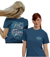 Trust in the Lord With All Your Heart Shirt, Indigo Blue, Large