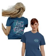 Trust in the Lord With All Your Heart Shirt, Indigo Blue, Medium