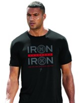 Iron Sharpens Iron, Weights, Shirt, Black, Medium