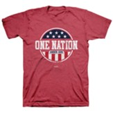 One Nation Under Shirt, Heather Red, Large , Unisex