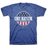 One Nation Under Shirt, Heather Royal Blue, Small , Unisex