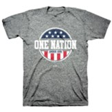 One Nation Under Shirt, Heather Grey, Medium , Unisex