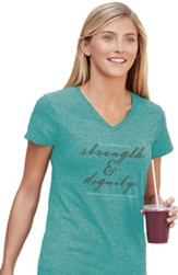 Strength and Dignity Shirt, Teal, Large