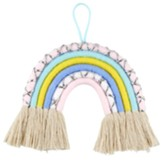 Pastel Macrame Rainbow Wall Decor