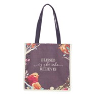 Blessed is She Canvas Tote