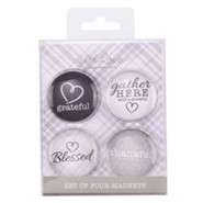 Gather Here Glass Magnets, Set of 4