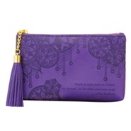 Walk in the World Vegan Leather Coin Purse, Purple