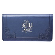 Be Still and Know Checkbook Cover, Blue