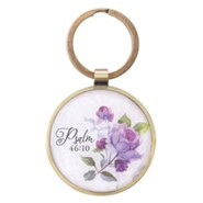 Be Still and Know Keyring with Tin