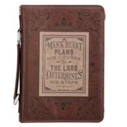 A Man's Heart Bible Cover, LuxLeather Brown, Large