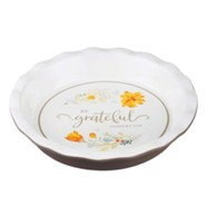 Be Grateful Pie Plate, Floral