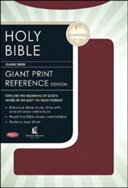 Bonded Leather Burgundy Large Print Book Red Letter