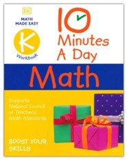 10 Minutes a Day Math Kindergarten: Helps develop strong math habits