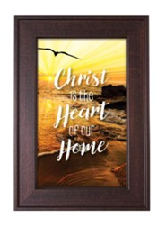 Christ Is the Heart Of Our Home Framed Art