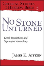 No Stone Unturned: Greek Inscriptions and Septuagint Vocabulary