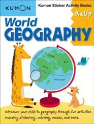 Kumon Sticker Activity Books: World Geography, Grades K & Up