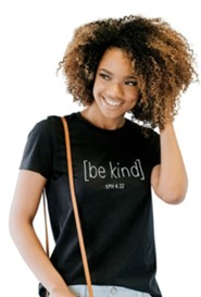 Be Kind Shirt, Black Heather, Small
