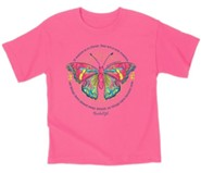 Butterfly Shirt, Safety Pink, Toddler 5