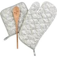 Kitchen Set, Oven Mitt, Hot Pad, Spoon, Set Of 3