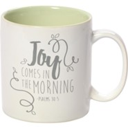 Joy Comes In The Morning Mug, Stoneware