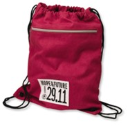 Canvas Backsack - Crimson, Large