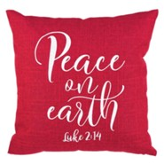 Peace on Earth Pillow, Red