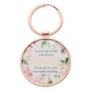 Trust In the Lord With All Your Heart Keyring