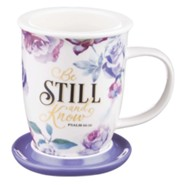 Be Still and Know Mug with Lid, with Gift Box