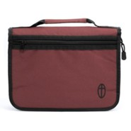 Economy Canvas Bible Cover, Burgundy, Large